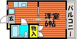 岡山県岡山市北区奥田本町丁目なしの賃貸マンションの間取り