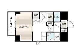 北海道札幌市中央区北二条西27丁目の賃貸マンションの間取り