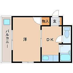 兵庫県尼崎市尾浜町3丁目の賃貸マンションの間取り