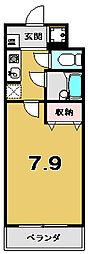メディナ東寺[803号室]の間取り