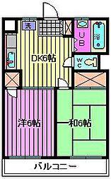 レジデンス白鷺[103号室]の間取り