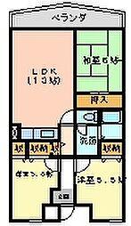 セントポーリア奥田北館[5002号室]の間取り
