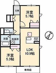 シャーメゾンMI−NE[1階]の間取り