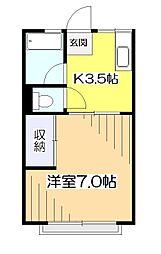 シティハイムラフルール[2階]の間取り