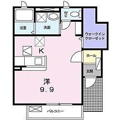 メゾンバルーンフラワー[1階]の間取り