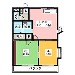 シャルム平井[2階]の間取り