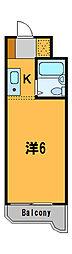 神奈川県横浜市鶴見区東寺尾1丁目の賃貸マンションの間取り