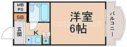 朝日プラザ梅田北デラ・リブジェ[11階]の間取り