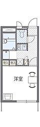 東京都八王子市大楽寺町の賃貸アパートの間取り