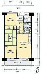 フロール山田町第2[304号室]の間取り