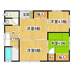 [一戸建] 茨城県取手市戸頭4丁目 の賃貸【/】の間取り