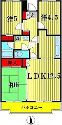 ピュアフィールド六高台[1階]の間取り