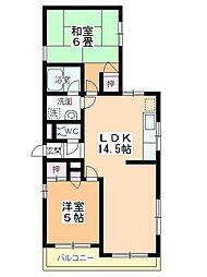 カネカ坂本第3マンション[201号室]の間取り