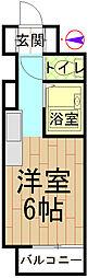 第5双洋ハイツ[305号室]の間取り