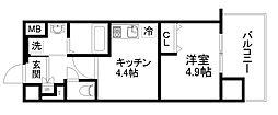 アクアプレイス京都洛南II[3階]の間取り