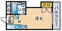 アマノフラット香住ヶ丘[402号室]の間取り