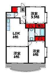 第23川崎ビル[601号室]の間取り