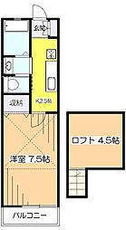 クレセントハイツTOKYUIII[1階]の間取り