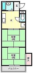 プレアール守口大和田[2階]の間取り
