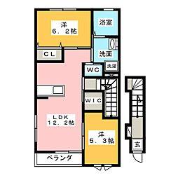 シェルル・ロコモダン×湖西市古見[1階]の間取り
