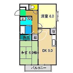 カーサ150 A棟[2階]の間取り