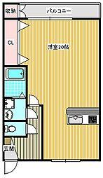 阪下ハウスマンションA棟[205号室]の間取り