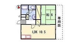 兵庫県姫路市白浜町寺家1丁目の賃貸アパートの間取り