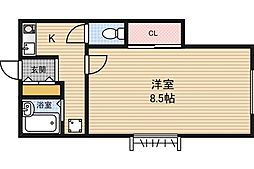 ビューフクシマ[2階]の間取り