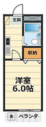 グリーンシャトルヤマガミ[2階]の間取り
