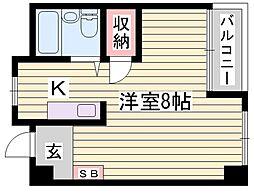 カンフォート花北[5階]の間取り