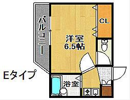 シャトーイズミ[1階]の間取り