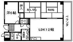 ライオンズマンション泉南樽井第2[508号室]の間取り