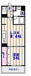 レ・ソール西船橋[3階]の間取り