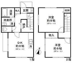 [一戸建] 東京都品川区大井2丁目 の賃貸【/】の間取り