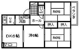 リバーサイドシティ麻生川[105号室]の間取り