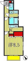 デュオーラ西原[1階]の間取り