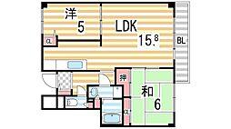 イーストマンション[4階]の間取り
