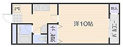 IIIハイツ上竹[2階]の間取り