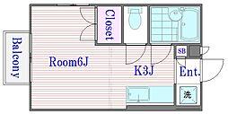 ハンプトンコート[1階]の間取り