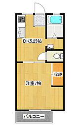 東栄ハイツA[2階]の間取り