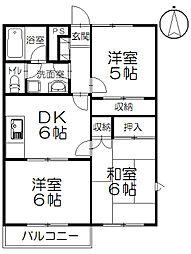 ドエル湘南II[2階]の間取り