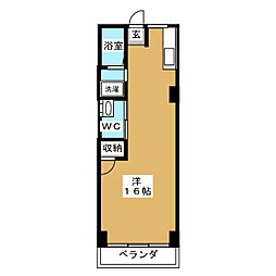 睦ハイツ[5階]の間取り
