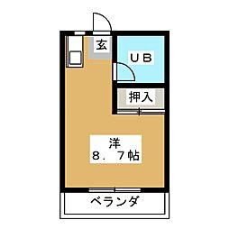 メゾンヤザコ[3階]の間取り