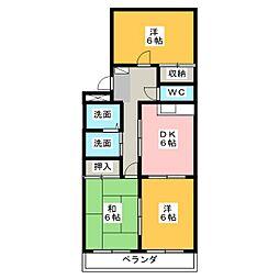 松屋Sweet Villa[3階]の間取り