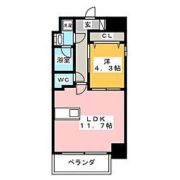 レジデンシア花の木[7階]の間取り
