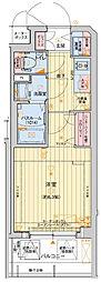 Osaka Metro長堀鶴見緑地線 西大橋駅 徒歩5分の賃貸マンション 11階1Kの間取り