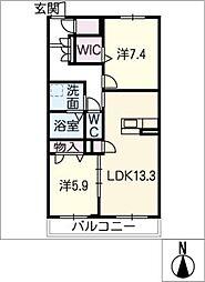 仮)シャーメゾン鹿田花の木[2階]の間取り