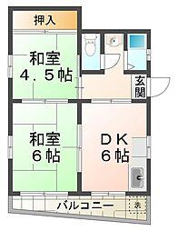 橋本文化[3階]の間取り