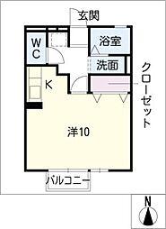 グレイスコート[1階]の間取り