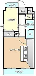 エスポワール竹越[3階]の間取り
